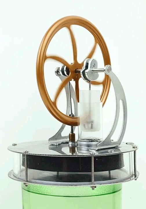 Двигатель Стирлинга, который может работать ото ЛЬДА! Двигатель стирлинга, Гифка, Видео, Сувениры, Двигатель, Залипалка, Физика, Механизм, Длиннопост