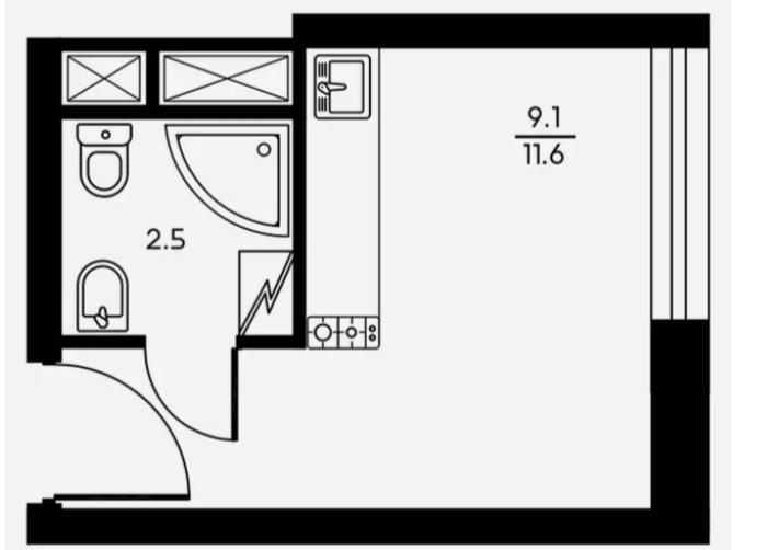 В Москве продают квартиры-каморки площадью 11м. Медуза, Квартира, Москва-Сити, Длиннопост