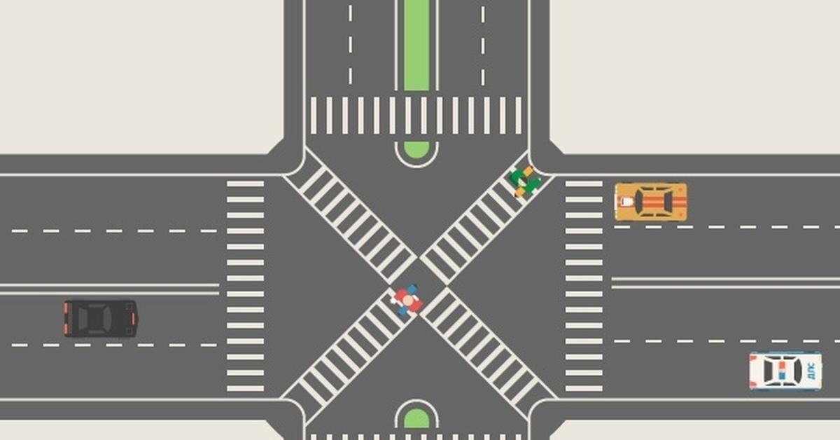 Перекресток с пешеходными переходами картинки