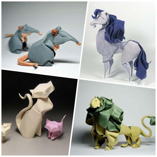 Оригами. Техника влажного складывания