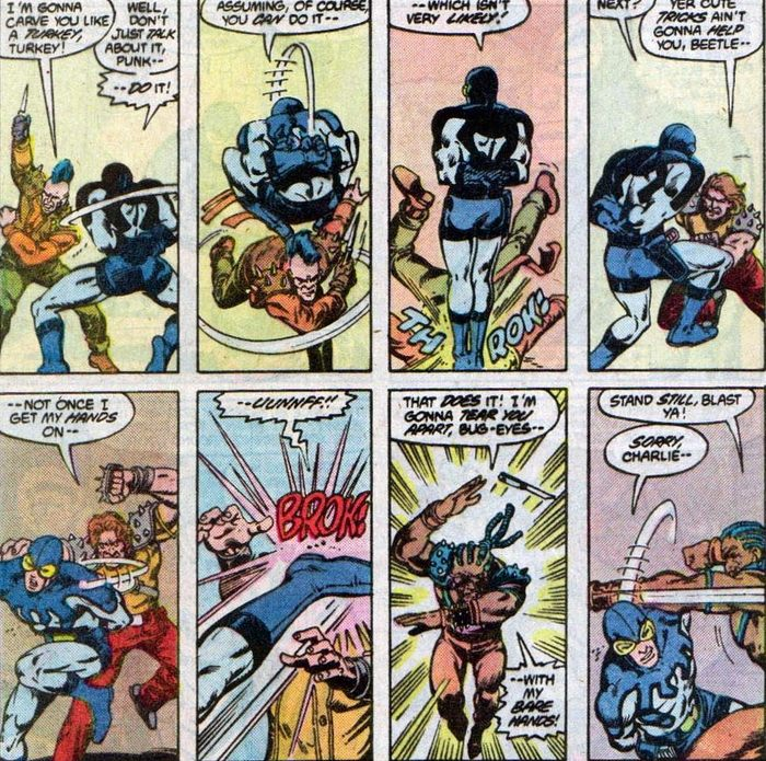 Супергеройские способности: Синий Жук (Тед Корд) Супергерои, DC Comics, Жуки, Комиксы-Канон, Длиннопост