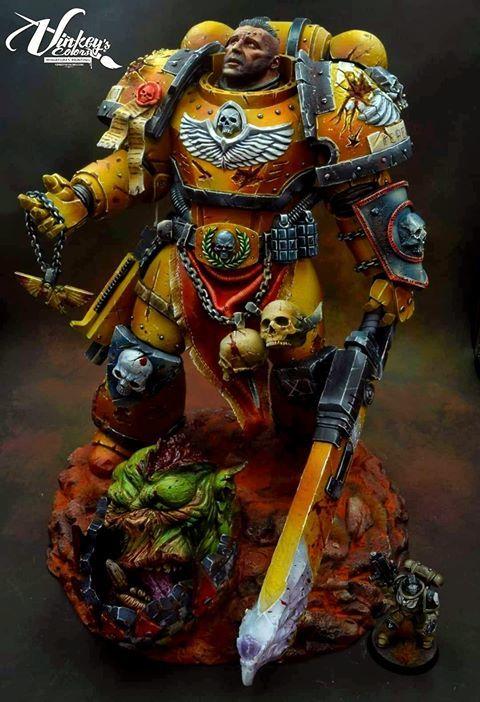 Законченный вариант поста о Раммшатйномарине =) Warhammer 40k, Скульптура, Resincast, Статуя, Длиннопост
