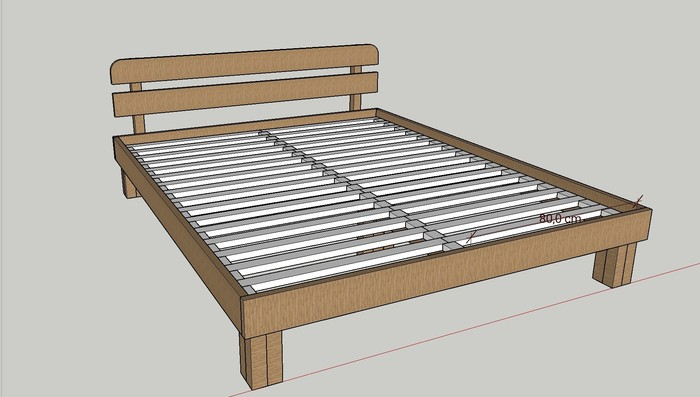 Двуспальная кровать своими руками Своими руками, Кровать, Дерево, Длиннопост