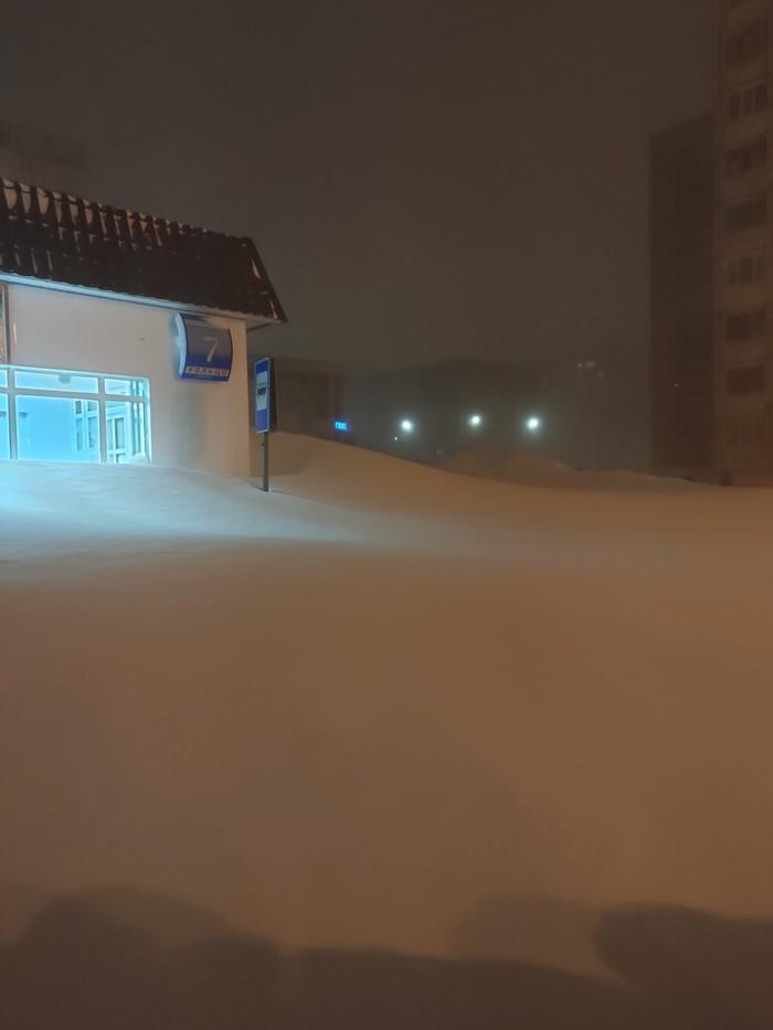 Тем временем в Норильске Снегопад, Норильск, Метель