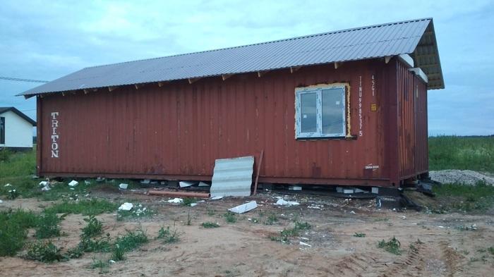 История одного строительства или как построить один жилой дом из двух морских контейнеров Стройка, Дом из контейнера, Контейнер, Своими руками, Длиннопост