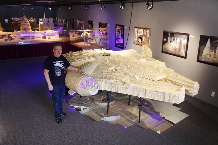 7 миллионов спичек и 40 лет жизни потратил американец Патрик Актон на свои удивительные модели Америка, Спички, Скульптура, Хобби, Увлечение, Длиннопост