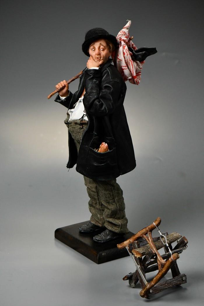 Куклы по мотивам иллюстраций Нормана Роквелла ч.2 Норман Роквелл, Полимерная глина, Своими руками, Кукла, Длиннопост, Рукоделие без процесса
