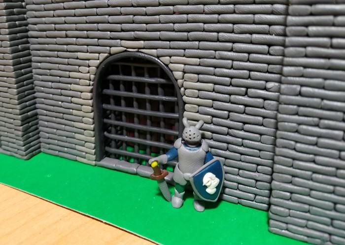 Замок из пластилина ч.3 Ворота 2.0 Длиннопост, Лепка, Пластилин, Миниатюра, Замок, Средневековье, Рукоделие с процессом
