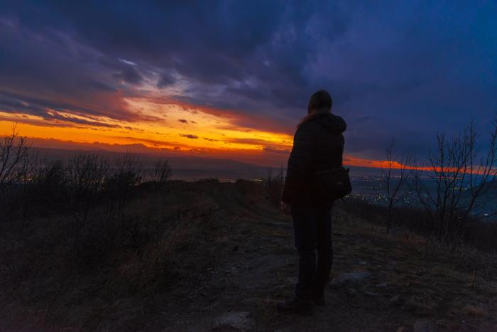 Последний закат осени на Бештау Осень, Закат, Ноябрь, Длиннопост, Бештау