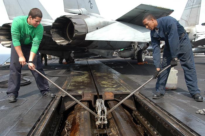 Паровые катапульты на авианосцах-2 Фотография, Длиннопост, Авиация, f-18, Авианосец, Гифка