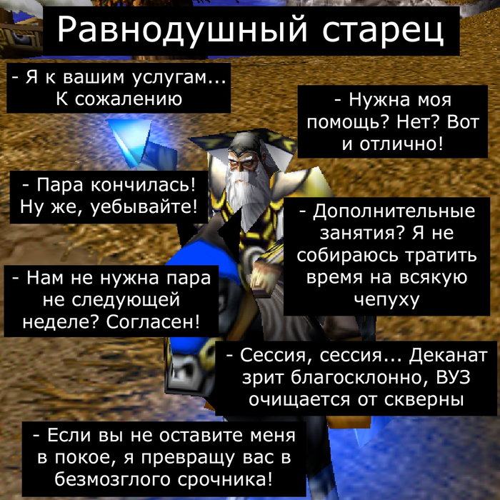 Преподаватели Врата Оргриммара, Игры, Компьютерные игры, Warcraft, Warcraft 3, Универ, Длиннопост