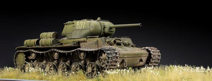Советский танк КВ-1С Стендовый моделизм, Танки, Война, Хобби, Коллекция, World of Tanks, Работа, Ручная работа, Длиннопост