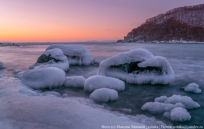 Зимние берега Приморья