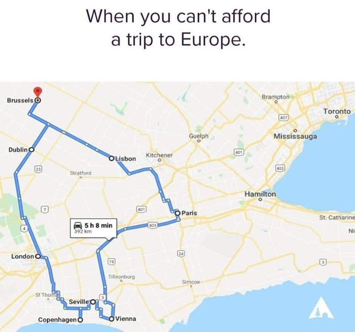 Когда не можете позволить себе тур в Европу