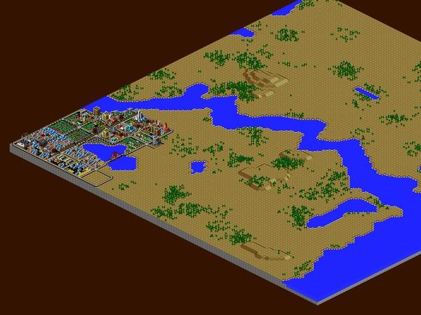 Достроил компьютерный город спустя двадцать лет Simcity 2000, Находка, Ностальгия, Детские рисунки, Вспоминая старые игры, Градостроительный симулятор, Гифка, Длиннопост