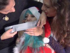 Christmas bondage Бондаж, Связывание, Фетишизм, Девушки, Гифка, Видео, Длиннопост