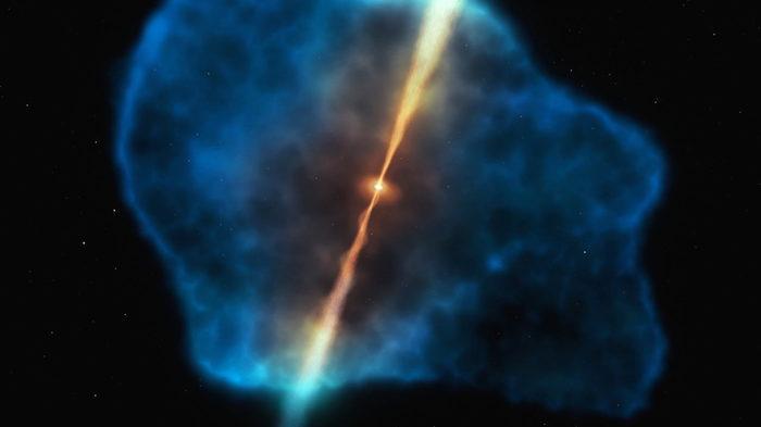 VLT обнаружил огромные гало холодного водорода вокруг активных галактик