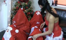 Jingle bondage Бондаж, Фетишизм, Связывание, Новый Год, Подарки, Гифка, Видео, Длиннопост