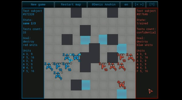 Разработка искусственного интеллекта из искусственного идиота в пошаговой тактической игре Игры, Компьютерные игры, Разработка, Искусственный интеллект, Gamedev, Мобильные игры, Браузерные игры, Гифка, Видео, Длиннопост