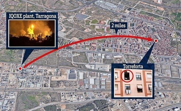 Взрыв химзавода в Испании: погиб мужчина, находившийся в своей квартире в 3 километрах от места ЧП Новости, Испания, Смерть, Взрыв, Завод, Несчастный случай, Видео, Длиннопост