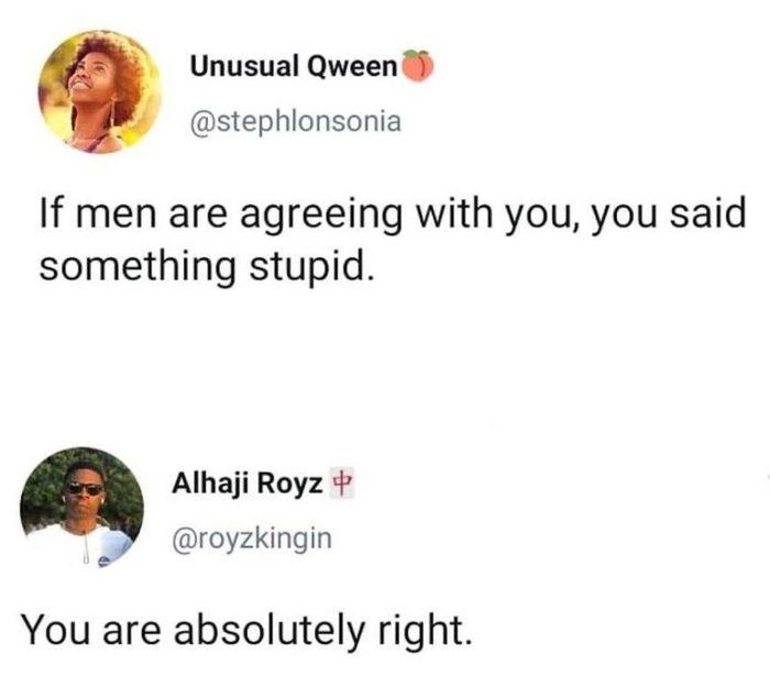И правда... Женщина, Мужчина, Глупость, Комментарии, Twitter