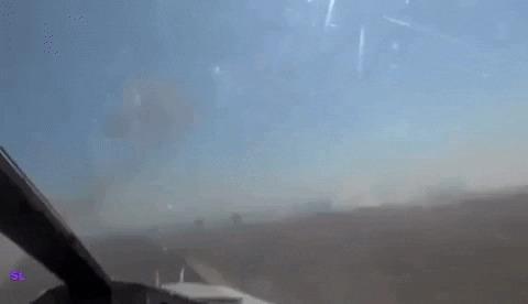 Су-24МР проверяет результат бомбардировки