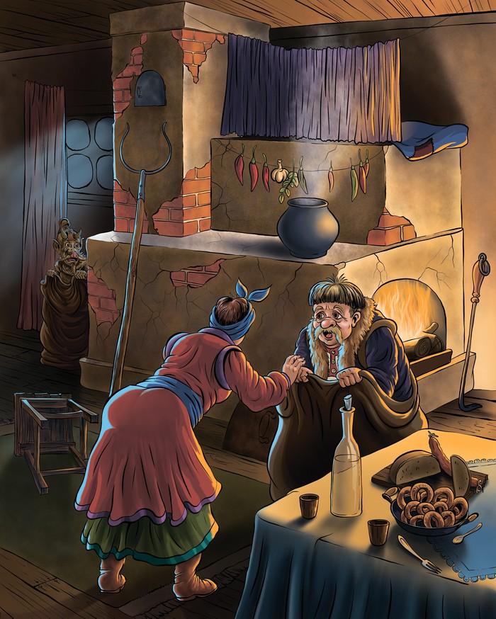 Иллюстрация к произведению Гоголя (Вечера на хуторе близь Диканьки ) (фотошоп)