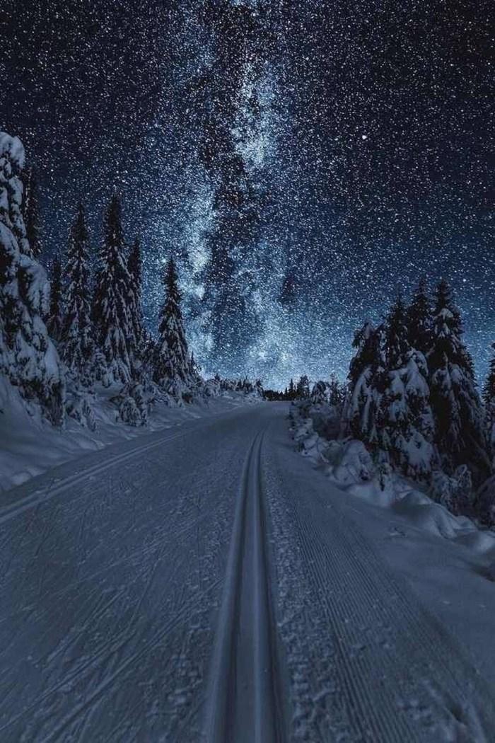 Звездное небо зимы