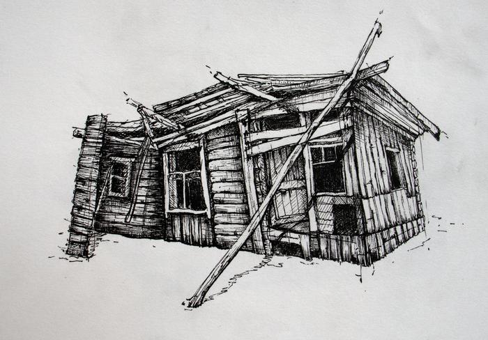 Зарисовки гелевой ручкой