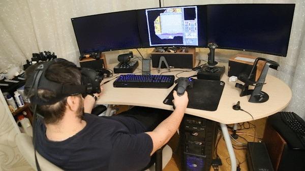 Во, теперь ништяк! (с) Герои меча и магии, Виртуальная реальность, Steam, Htc Vive, Компьютерные игры, Ретро-Игры, Гифка, Видео