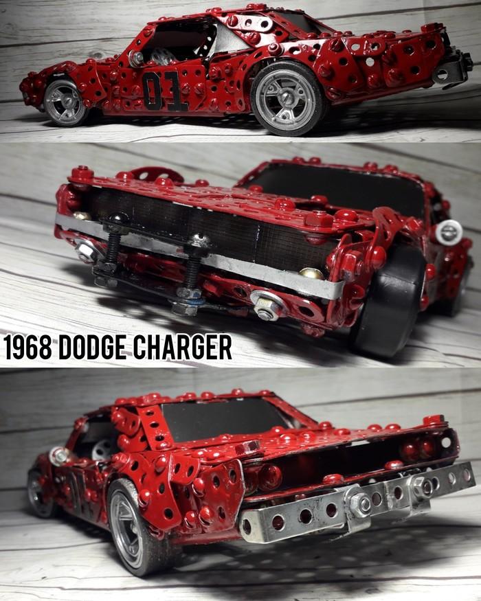 Dodge Charger 1968 кастом из металлического конструктора