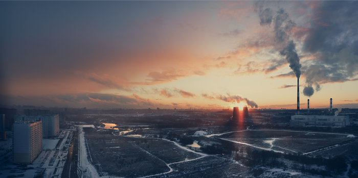 Вид на Москву из Мытищ