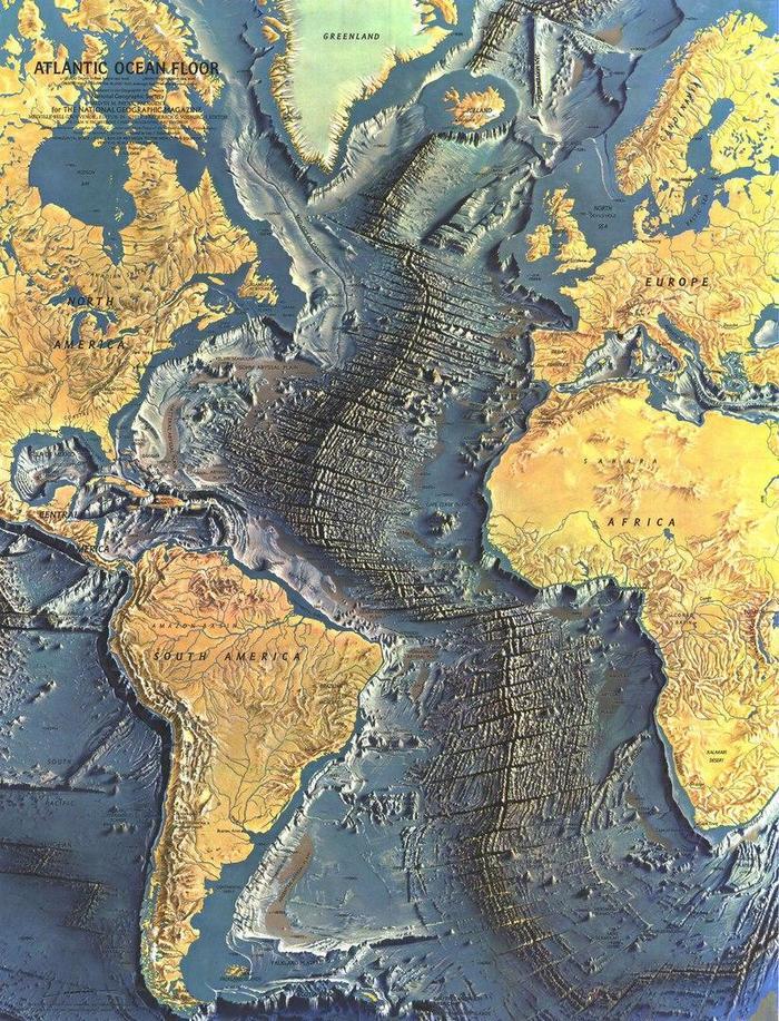 Дно Атлантики