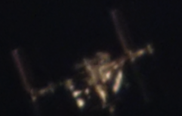 А я вас вижу ) Сфотографировал сегодня МКС