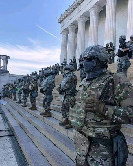 Это первый раз, когда я вижу американскую армию в Америке