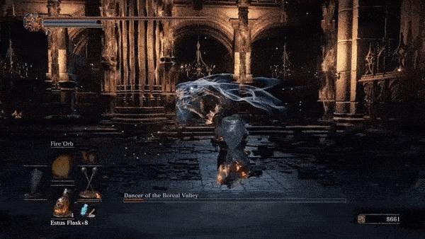 Как устроен дизайн босса: Танцовщица Холодной долины из Dark Souls III Xyz, Gamedev, Игры, Dark Souls 3, Драка, Босс, Уровень, Сражение, Гифка, Длиннопост