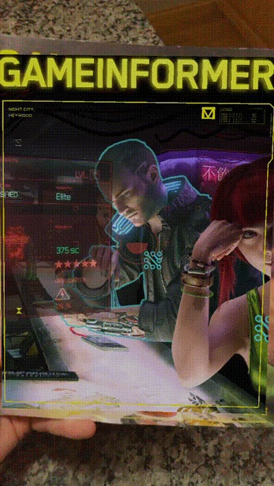 Крутейшая обложка июльского номера журнала Game Informer по игре Cyberpunk 2077 с использованием дополненной реальности Игры, Cyberpunk 2077, Журнал, Game informer, Обложка, Дополненная реальность, Гифка