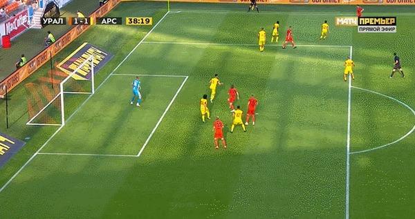 Топовый голЭрика Бикфалви во вчерашнем матче с Арсеналом
