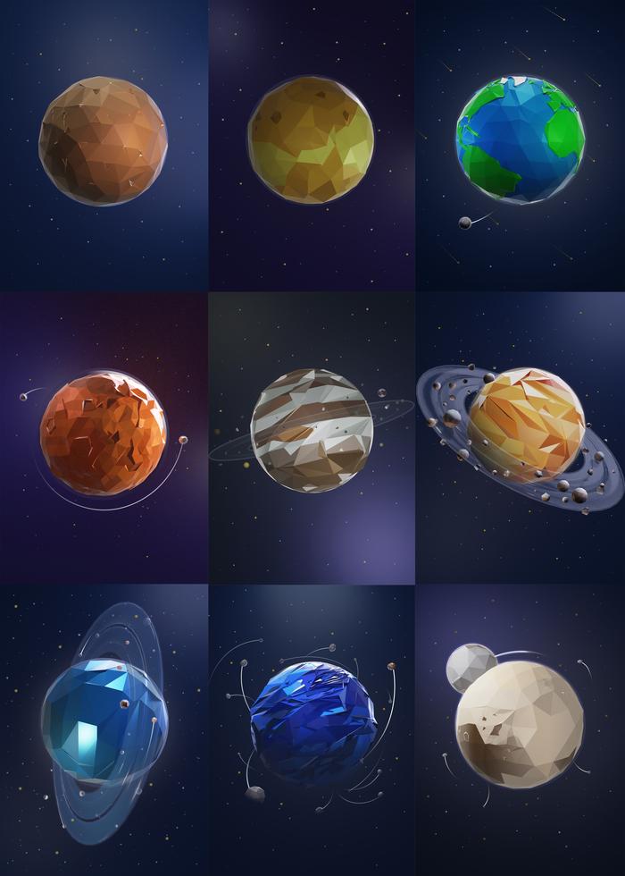Планеты Солнечной системы Low Poly