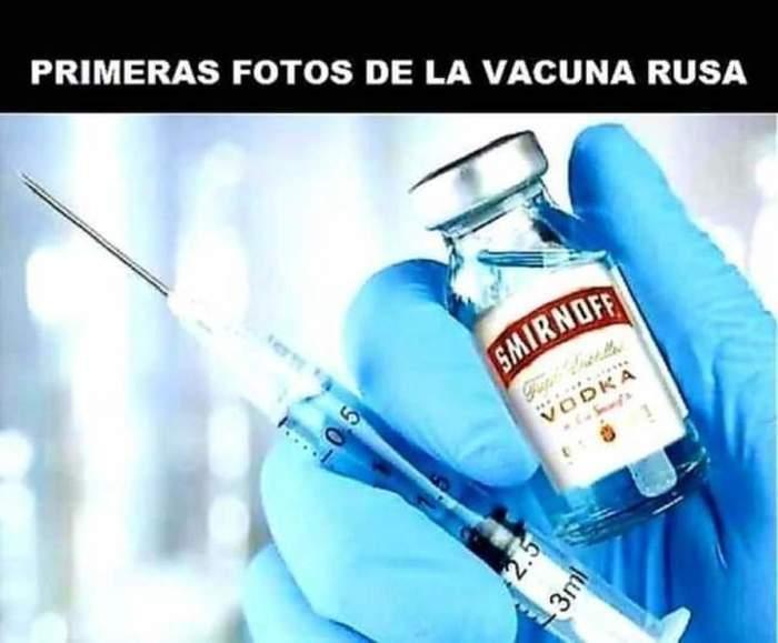 Испанцы шутят: первая фотография русской вакцины