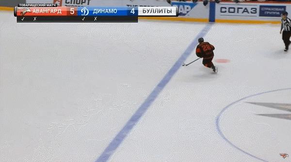 Очередной красивейший буллит из КХЛ Спорт, Хоккей, КХЛ, Буллит, Гол, Гифка