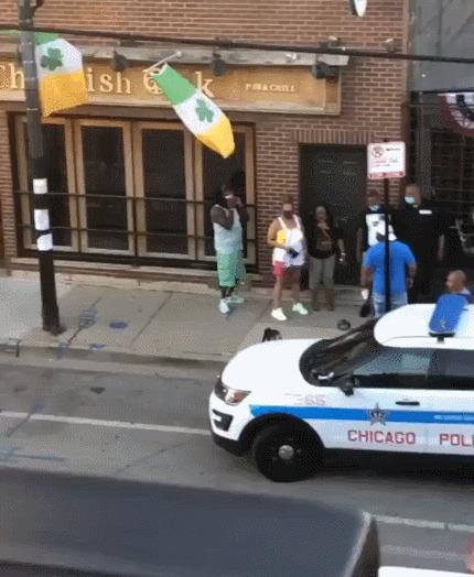 Полиция тестирует бесконтактное задержание :)