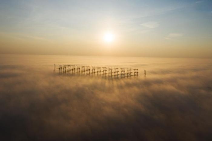 ЗГРЛС Дуга в утреннем тумане