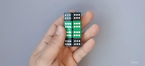 Антистресс бесконечный куб из игральных кубиков Своими руками, Поделки, Творчество, Антистресс, Игрушка антистресс, Рукоделие, Рукоделие с процессом, Видео, Гифка