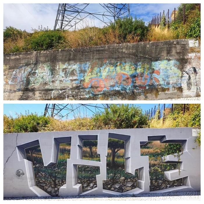 Вот это граффити так граффити!