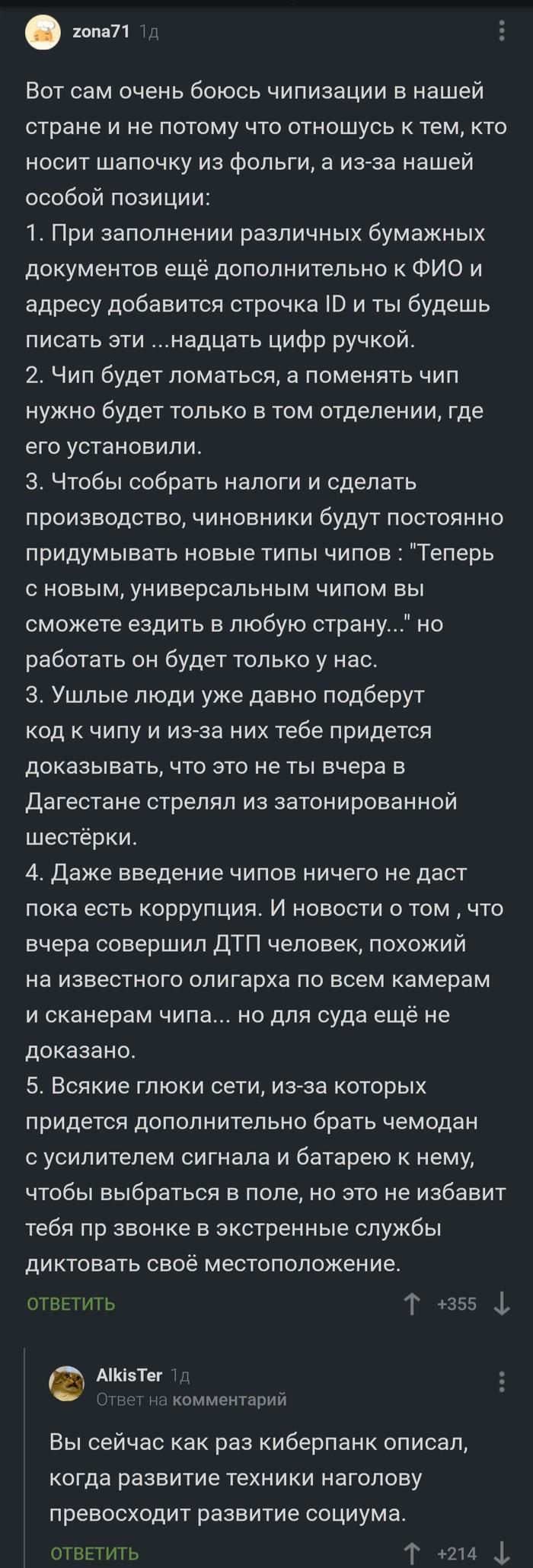 Чипизация или русский киберпанк