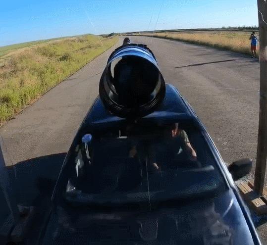ЧТО?! Авто, Бочка, Трюк, Скорость, Опасность, Каскадер, Гифка, Slow motion