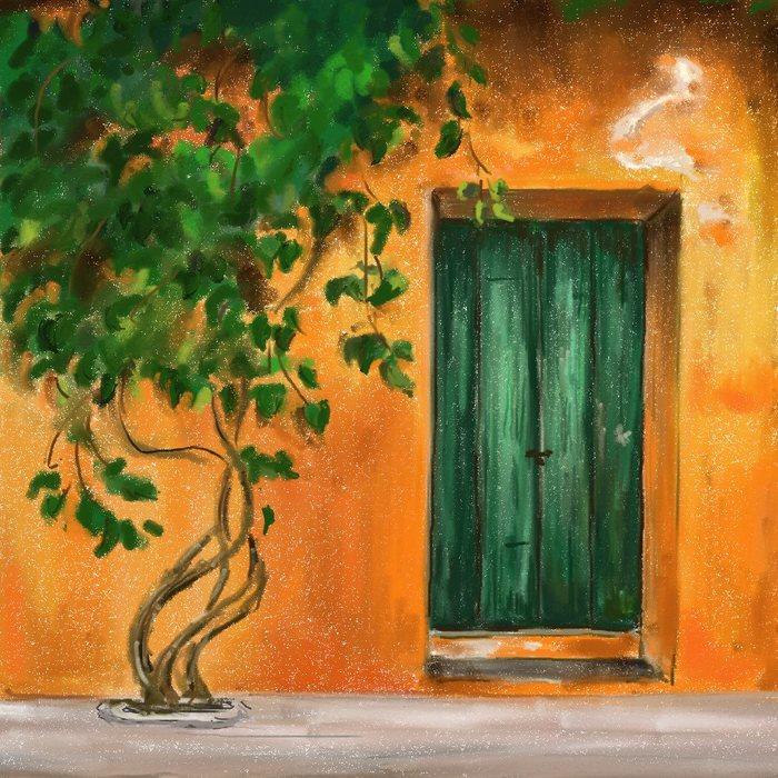 Апельсиновая дверь