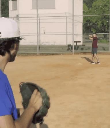 Бейсбол с необычного ракурса