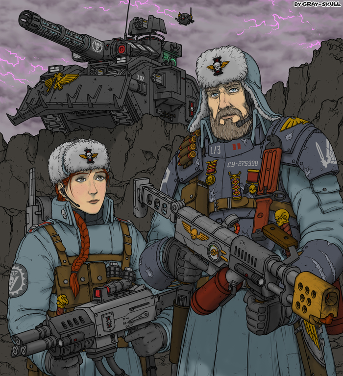 Персонажи ролки Dark Heresy (арт на заказ) (by Gray-Skull)